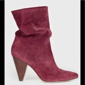 Suede boots Joey suede boots slouchy red boots new